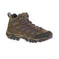 [Merrell] (女) MOAB Mid GORE-TEX 中筒登山鞋 深棕/紫 (ML21444)