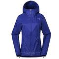 【美國 The North Face】女新款 WindWall防風防潑透氣連帽外套.輕量機能運動夾克.風衣/可打包式插手袋/3RH4 礦藍色 N
