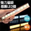 【LIFE88】 LED 磁吸式薄型紅外線感應燈 (電池式) 白光 / 暖黃光