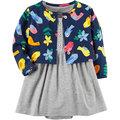 【愛寶貝】美國 Carter / Carter\'\'\'\'s 嬰幼兒春夏外套洋裝包屁衣組 小鳥歌唱(CTGSCD18-004)