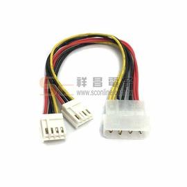 【祥昌電子】PW-4 電源線 Y線 Y-Cable 1大2小 大四P線材 電腦散熱風扇線材 20cm