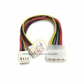 ☆電子花車☆PW-4 1大2小 電源線 Y線 Y-Cable 大四P線材 電腦散熱風扇線材 20cm
