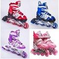 兒童直排輪溜冰鞋+前輪閃光加送護具七件組(護膝*2護肘*2護腕*2頭盔*1)852085