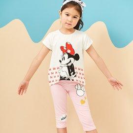 Disney 米妮系列歡樂愛心棉彈褲~熱情粉