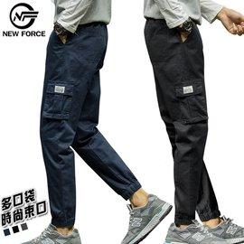 【NEW FORCE】百搭多口袋九分束口工作褲-兩色可選