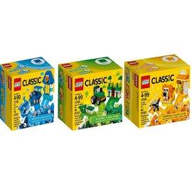 樂高10708綠色創意盒 + 10709橘色創意盒 +10706藍色創意盒 三盒合售 樂高LEGO