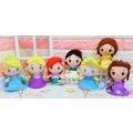 迪士尼公主 小美人魚娃娃 7英吋 灰姑娘 仙度瑞拉 艾莎 Elsa 蘇菲亞 貝兒 長髮公主 美女與野獸 白雪公主