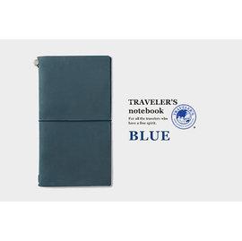 小品雅集  MIDORI TRAVELER S notebook 真皮 藍色 旅人筆記本(大)