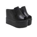 【ALicE】(預購) Y1616-9   極透氣、沁涼感小白厚底鞋-黑