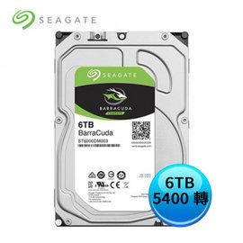 Seagate 希捷 BarraCuda 新梭魚 6TB 3.5吋 5400轉 內接硬碟 ST6000DM003