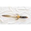 郭常喜的興達刀鋪-短劍(A0350)精美護手,積層鋼,黑檀木柄