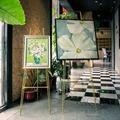 畫架 鐵藝油子相框架落地支架展示架 海報架照片托架婚慶畫架xwI1