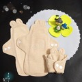 Lohogo 可愛兔子耳朵布衛生棉試用組-3種尺寸各1片Lohogo推薦有機環保可洗衛生棉
