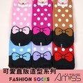 (3雙入)可愛直版少女船襪-蝴蝶結點點-C702-1