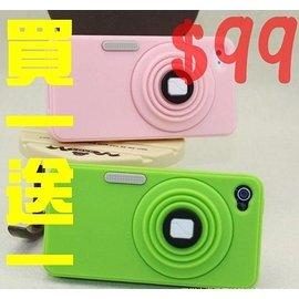 【世明3C】買一送一 i4/ 4s 蘋果IPhone4/ 4s伸縮相機復古照相機保護殼手機軟套 防摔矽膠套 支架