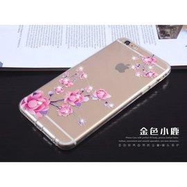 【世明國際】iPhone 6/6+/6s/6s+ 水鑽彩繪軟殼 巴黎鐵塔 櫻花 i6 plus 保護套 手機殼
