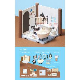 Haco Room 小熊學校 浴室套組 BANDAI 組裝模型 小熊學校