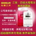 【台中鋰電】台灣三洋SANLUX SYNC-LS01 3.4號電池充電器 旗艦型LCD極速充電器 鎳氫電池 充電電池 SANYO