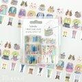 日本 bande 換換衣服-貓咪的派對_x0008_3卷組 和紙膠帶貼紙捲