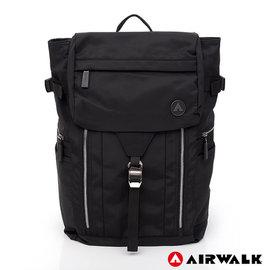 Backbager 背包族【美國 AIRWALK】黑金系列-悠然風雅後背包-黑色