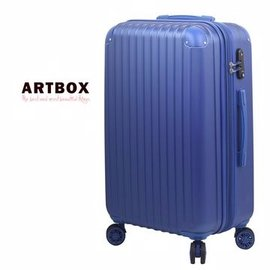 ~ARTBOX~極致五感 ~ 24吋電子紋ABS可加大海關鎖行李箱 寶藍