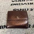 二手正品 LV 經典紅銅色漆皮短夾/卡夾/零錢包