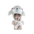 ☆二鹿帽飾☆【2015年羊年 尾牙帽】今年最夯 / 秋冬新款 羊附耳帽/可愛毛茸保暖造型帽-白色