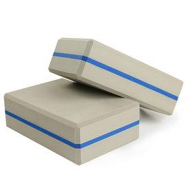 Yenzch 瑜珈磚/高密度EVA(灰藍 2入) RM-11135