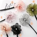 {朵朵韓飾} B1108 韓國直送(正韓)-時尚優雅珍珠花朵丸子頭盤髮器(六色)