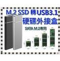 (送四好禮)M.2 M2 NFGG SSD 轉 USB 3.1 轉接盒 全鋁外殼 外接式硬碟盒 M.2 SATA專用