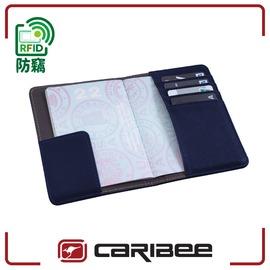 【Caribee 澳洲 RFID 防盜護照證件夾《海軍藍》】CB-1394/ 護照夾/ 出國旅遊/ 防竊皮夾