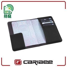 【Caribee 澳洲 RFID 防盜護照證件夾《黑》】CB-1394/ 護照夾/ 出國旅遊/ 防竊皮夾