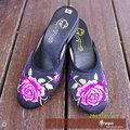 〥嵐陽專業服飾〥復古蓮花改良休閒繡花鞋 中國風 娃娃鞋 SAM001053