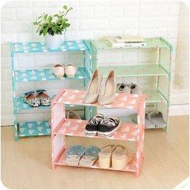 簡易 鞋架 四層鞋架 不鏽鋼簡易 鞋櫃 學生宿舍鞋櫃 室內拖鞋收納架 小物置物架 玄關鞋櫃 DIY鞋架