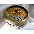 【Ruby工作坊】「直購價,甕+五色碎石+黃水晶元寶  」NO.46SB小陶製聚寶盆套組((含加持))