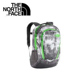 【The North Face 27L 15吋電腦背包《墨灰印花/ 氪綠》】CHJ0/ 出國/ 旅遊/ 休閒