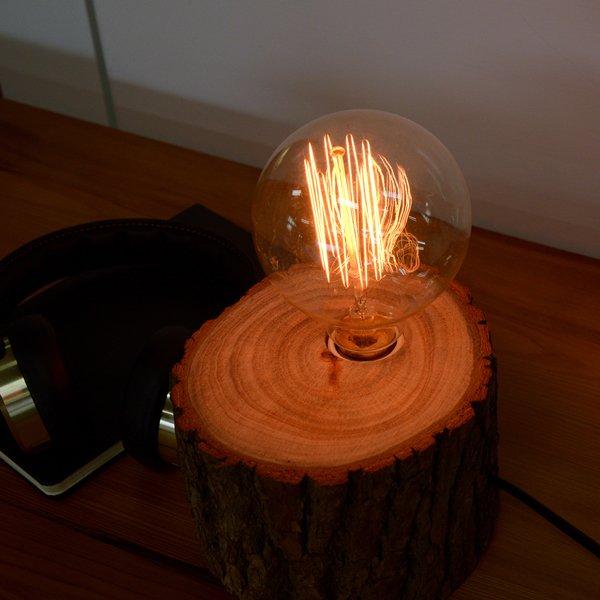 芬多森林,台灣樟木愛迪生燈泡情境燈,高品質雷射雕刻客製