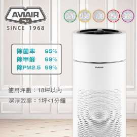 AVIAIR 智能ECO空氣循環清淨機 AVI-600除菌率>95%、除甲醛>99%、除PM2.5 >99.9%