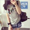 【DIFF】夏季新款卡通印花短袖圓領短袖T恤 韓版學生寬鬆顯瘦上衣 姊妹裝 【T116】