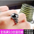高端唯美繫紅寶石戒指 玫瑰金飾品 925銀活口戒指女 裙鑲瑞士鑽戒