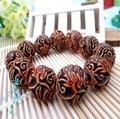 滿38天然 海螺 貝殼 椰子殼雕刻龍鳳闢邪手鏈 批發手鏈