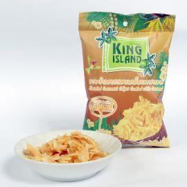 《泰國進口焦糖椰乾 10 包(40g)-酥脆香甜好滋味