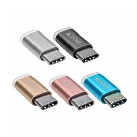 【祥昌電子】KINYO 耐嘉 鋁合金 Micro USB轉 Type-C轉接頭 USB-MC2 (粉色)