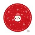 博美包裝 聖誕紙封 聖誕老公公-大圓(17cmx30入) 【3-239070】