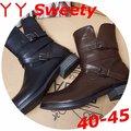☆。(丫 丫 Sweety)☆。大尺碼女鞋。秋冬新品韓國空運顯瘦V口造型中筒靴(B154)40~45下標時以即時庫存為主