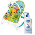 (2865486)費雪牌 Fisher-Price 可攜式兩用震動安撫躺椅+貝恩Baan 嬰兒沐浴精/200ml