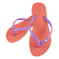 【BELEZA】havaianas哈瓦仕 雙色組合平底人字拖 (螢光橙/紫) 夾腳拖鞋 海灘鞋