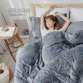 超柔瞬暖法蘭絨6尺雙人加大床包三件組(不含被套)#FL013# 獨家花款-小日常寢居  親膚 法萊絨
