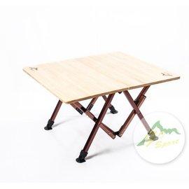【【蘋果戶外】】Go Sport 92490 二段高低小竹板桌 休閒桌 摺疊桌 Coleman CM-0519