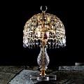 埃及奧地利金屬鍍金水晶檯燈E14-3燈(水藍色)TA95416